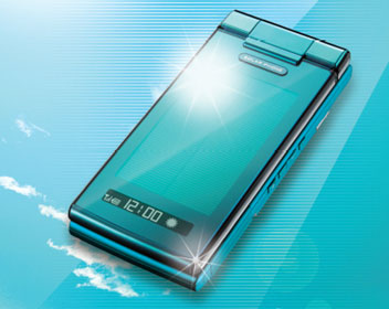 The world's first solar powered, waterproof handset