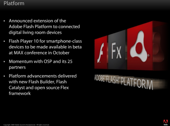 Adobe Flash 10 for Smartphones