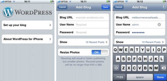 WordPress for iPhone