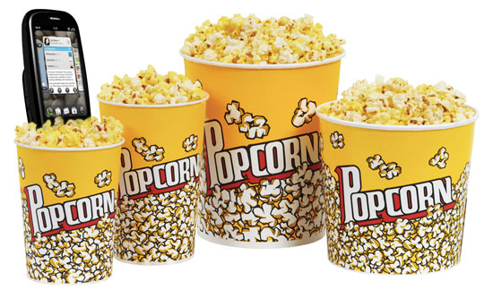 "Sprint customers can scan their phones to receive ""upgrades"" to a larger-size soda or popcorn"