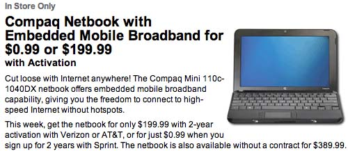 Sprint &amp; Best Buy offer 99 cent netbook