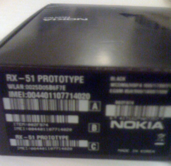 The Nokia RX-51 prototype