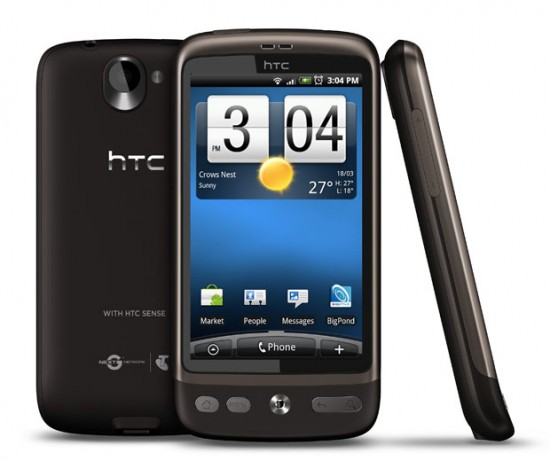 The Telstra-branded HTC Desire