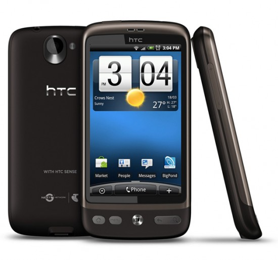 The HTC Desire is now available in Australia