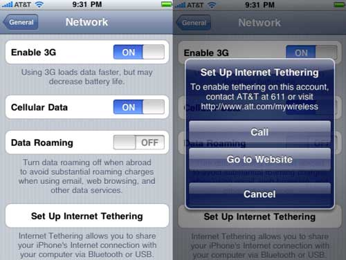 iPhone OS 4 Tethering