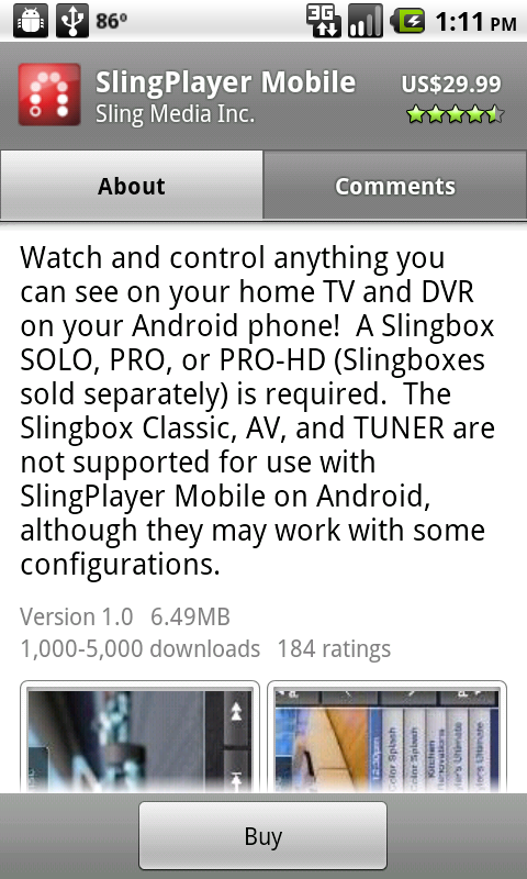 Slingplayer Mobile for Android